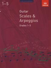 Guitar Scales & Arpeggios Grades 1-5 ABRSM Classical Guitar Exam Music Book