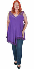 Rayon Tunic Plus Size Sleeveless Tops for Women
