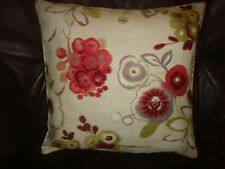 JOHN LEWIS FABRIC 'CARLOTTA' FLORAL DESIGN   CUSHION COVER FOR 18in pad PINK