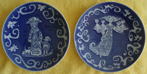 """Mother's Day Plates Royal Copenhagen Mors Dag 1971 & 1972 Denmark Plate 6"""""""