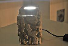 lampada abat-jour artigianale da compagnia pietra, legno e led 12v