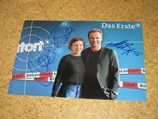 Tatort MERET BECKER & MARK WASCHKE Originalautogramme GROSSFOTO!