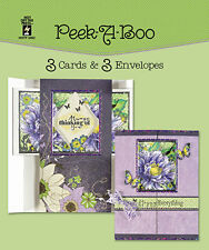 PEEK-A-BOO DIE-CUT CARDS & ENVELOPES-Greeting Card-Paper Craft-Blank Templates