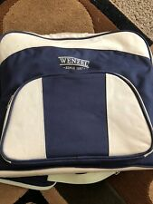 WENZEL BLUE/BEIGE CANVAS PICNIC SET CARRY BAG