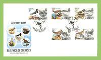 Alderney 1984 Alderney Birds set on Official First Day Cover