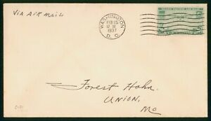 MayfairStamps US FDC Sealed 1937 20 Cents Trans Pacific Air Mail First Day Cover