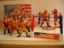 WWF WWE SIMBA WENTOYS SERIE 1 HASBRO WRESTLING CHAMPS COMPLETE SET & RING