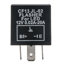 12V 3 PIN LED FLASHER RELAY UNIT FOR BLINKER/INDICATOR FLASH - POSITIVE ON RIGHT