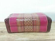 Thai Cotton Bolster Yoga Pillow Cushion Headrest Meditation Kapok 100% Filled