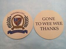 Beer Bar Coaster ~<>~ PANAMA CITY Brewery & Cafe, FLORIDA ** Open From 1996-2002