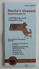 Usgs Martha's Vineyard Massachusetts 1:100,000 Metric Folded Topo Map Original