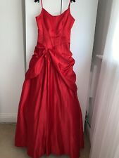 Jovani Red Long Evening Gown Dress Formal Size 06 UK 10 RRP GBP 1,100 Harrods