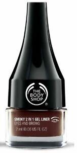 The Body Shop 2-in-1 Smoky Gel Doublure & Sourcil Définisseur Marron Neuf Nip