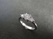 1.80 Carat Round Cut 3 Stone Diamond Engagement Ring 14K White Gold Size M N O P