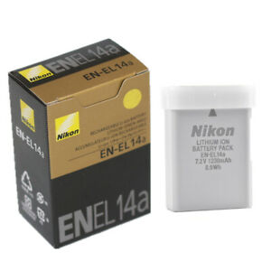 Genuine Nikon EN-EL14a Battery for D3100,D3200,D3300,D5200,D5300,D5500,MH-24