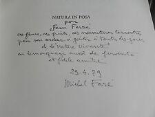 NATURA IN POSA STAGIONE DELLA NATURA MORTA EUROPA signé FARE envoi à JEAN FERRE