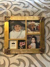 Burnes of Boston Gold Multi Picture Photo Frame Collage EUC