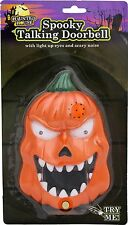 Spooky Talking Halloween Doorbell / Lights Sounds & Surprise ~ Evil Pumpkin
