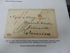 More details for  jamaica philatelic   military  falmouth barracks  1841  letter