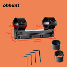 "Ohhunt 1"" 30mm High Profile Windage Elevation Fully Adjustable Scope Mount Ring"