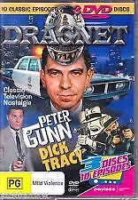 Dragnet Peter Gunn Dick Tracy DVD 10 Episodes 3 Discs Jack Webb Ben Alexander R4