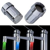 LED Changing Sensor Faucet Sale Glow Color Temperature RGB Light Tap Water New