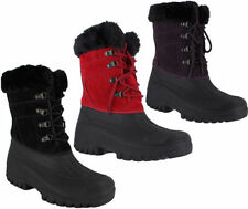Fur Snow, Winter Lace Up Boots for Women