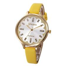 Geneva Women Stainless Steel Diamond Leather Crystal Quartz Wrist Watches I1