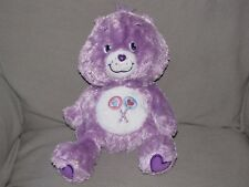 CAREBEAR CARE BEAR STUFFED PLUSH FLUFFY FLOPPY BEAN BAG SHAGGY SHARE BEAR 2005