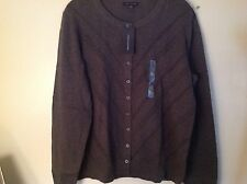 Womens  XL  Gorgeous Tommy Dark  Gray Button up Cardigan NWT