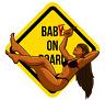 Babe on Board , Diecut vinyl adhesive sticker decal  105x100mm