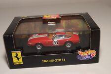 V 1:43 HOTWHEELS 25718 FERRARI 365 GTB/4 DAYTONA 1968 RACING RED MINT BOXED