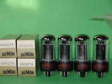 Unused Quad Tall Dumont Sylvania 6V6GTA Blk Plates Vacuum Tubes (3)Quads Avail