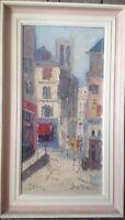 Paris Firma Indistiguibile ° Dipinto a Olio Fine Espressionista Antico Um 1940