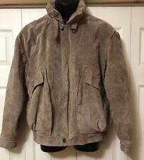 J. Riggins Men's 100% Leather Jacket size large Light Brown Tan J. Riggins L