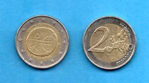 2 Euros Greek Coin 2009 L@@K, 10 years Economic & Monetary Union (EMU) 1999-2009