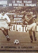 FOOTBALL MATCH  FRANCE - HONGRIE / RUGBY ROUMANIE FRANCE MIROIR SPRINT 1966