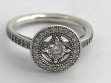 2941d4042 Authentic Pandora Vintage Allure, Clear CZ Ring 191006CZ-50 Size 5 New