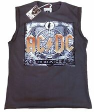 Amplified AC/DC ACDC Black Ice Rock Star Vintage Designer SERBATOIO T-shirt G.S 46