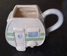 Ceramic Caravan Shaped Novelty Mug