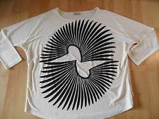 DIDI tolles oversized Shirt creme schwarz Gr. L NEUw. SJ616