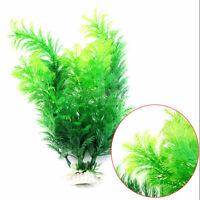 Fish Tank Aquarium Decor Green Artificial Plastic Underwater Grass Plant cda