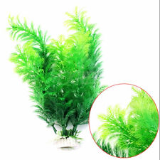 2016 Fish Tank Aquarium Decor Green Artificial Plastic Underwater Grass Plant-SU