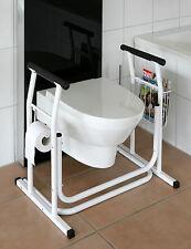 WC Toiletten Aufstehhilfe  Toilettenstütze WC Stützgestell Papierrollenhalter !