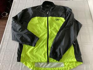 IllumiNite Reflective Full Zip Yellow/Black Lightweight Jacket Mens XL TS1