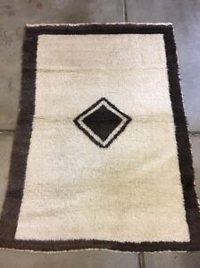 "Anatolian Turkish Oriental Rug,Natural Wool, High pile.3""6X4""10(tulu) excellent"