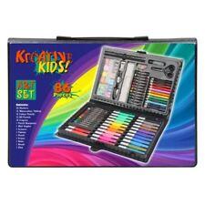 86 Piece Art Set In Carry Case Crayons Pens Pencils Paints Oil Pastels for Kids