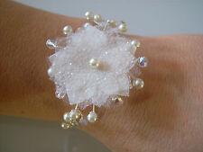 Bracelet Couleur Ivoire/Cristal p  robe de Mariée/Mariage/Soirée, perle pas cher