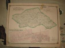 STRASBURG GAP EPHRATA EDEN TOWNSHIP PENNSYLVANIA MAP NR