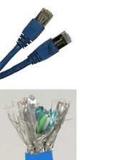 50'ft 23-AWG CAT6 blue Network Shielded Cable 550MHz 100% Copper Ethernet Lan